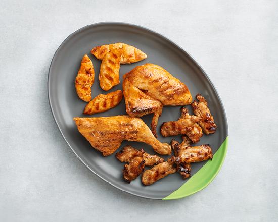 Calories in Nandos Mixed Platter - 1/2 Chicken