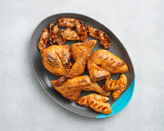 Calories in Nandos Mixed Platter - Whole Chicken